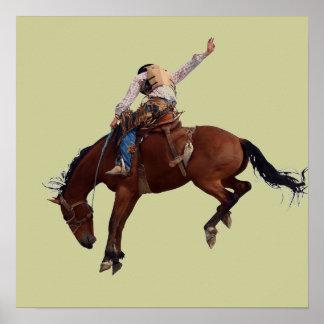 Riding Cowboy Poster