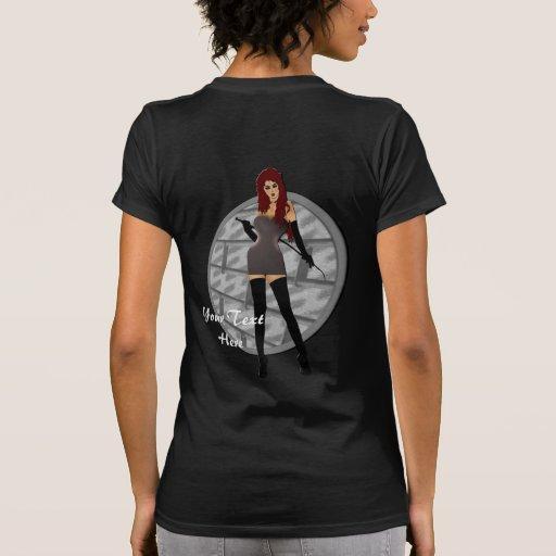 Riding Crop Mistress Back Printing T Shirt