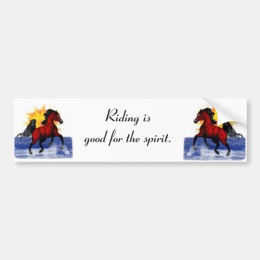 Riding for the spirit - Arab horse Bumper sticker
