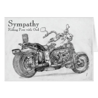 Riding Free with God Sympathy Card for Biker