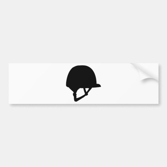 riding helmet bumper sticker