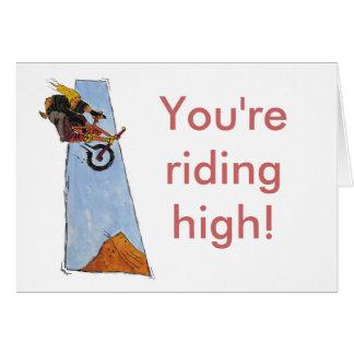 Riding High! Greeting Card