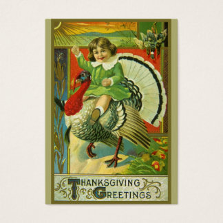 Riding High Thanksgiving Business Card