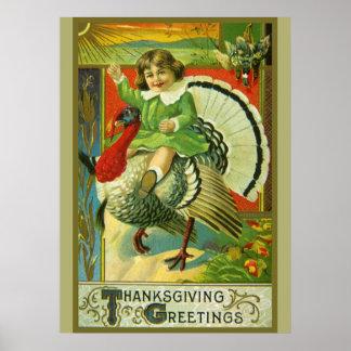Riding High Thanksgiving Poster