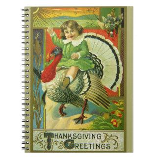 Riding High Thanksgiving Spiral Notebook