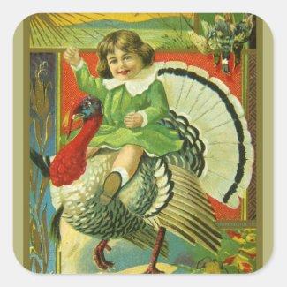 Riding High Thanksgiving Sticker