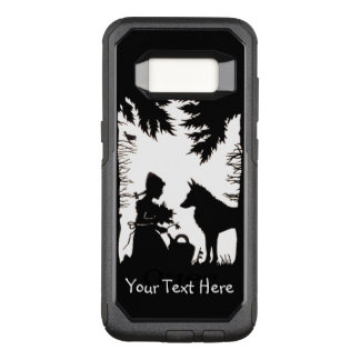 Riding Hood in Woods Wolf Holding Flowers OtterBox Commuter Samsung Galaxy S8 Case