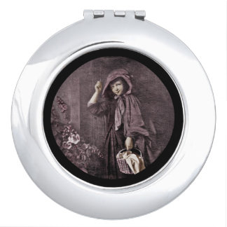 Riding Hood on Grandmas Doorstop Makeup Mirror