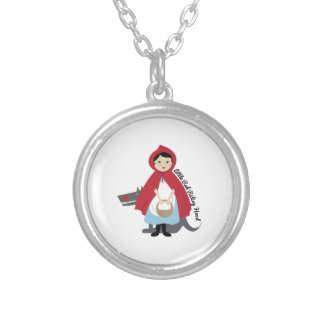 Riding Hood Round Pendant Necklace