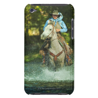 Riding horse through water iPod Case-Mate case