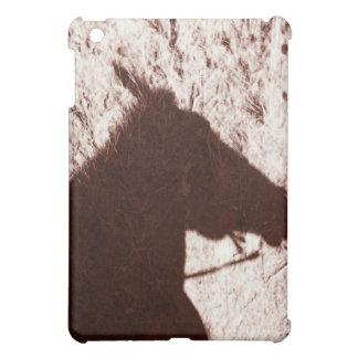 riding horse's head shadow on trail floor Jasper Case For The iPad Mini