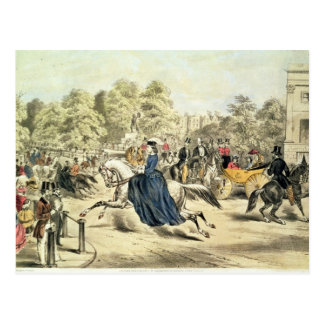 Riding in Rotten Row, Hyde Park Postcard