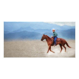 Riding in the Desert Card
