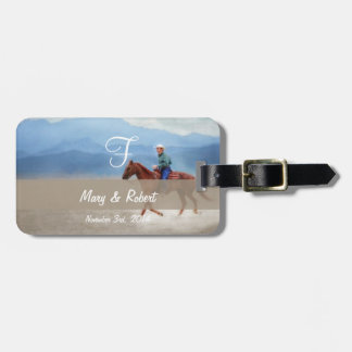 Riding in the Desert Monogram Tag For Luggage