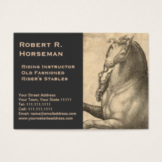 Riding Instructor Equestrian Antique Horse Vintage Business Card
