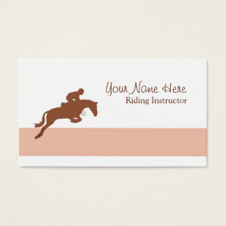Riding instructor showjumping horse business card