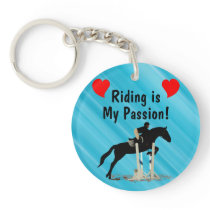 Riding is My Passion Horse Keychain