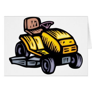 Riding Lawn Mower Greeting Cards