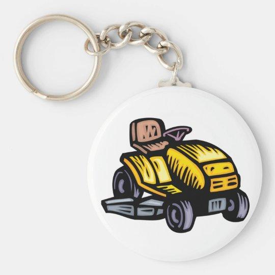 Riding Lawn Mower Keychain