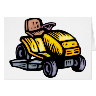 Riding Lawn Mower Note Cards