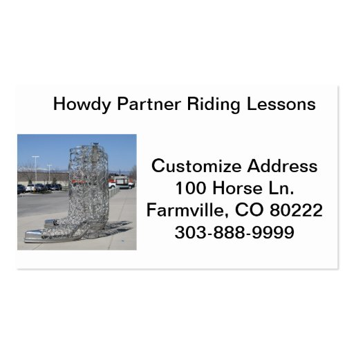 Riding Lessons Business Cards