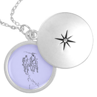 Riding Off Into The Sunset Silver Plated Necklace
