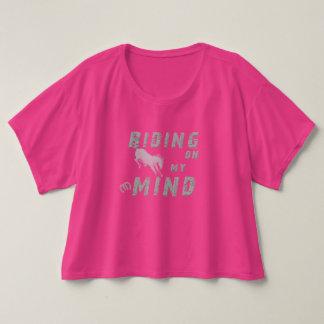 Riding on my Mind Women's Crop T-shirt