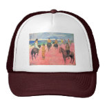 Riding On The Beach By Gauguin Paul (Best Quality) Hat