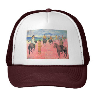 Riding On The Beach By Gauguin Paul (Best Quality) Trucker Hat