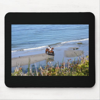 Riding on the beach mouse pad