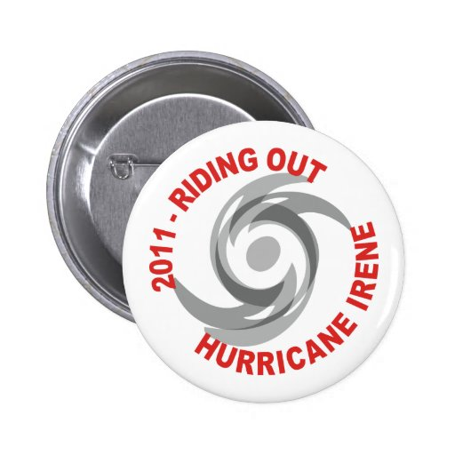 Riding Out Hurricane Irene 2011 2 Inch Round Button