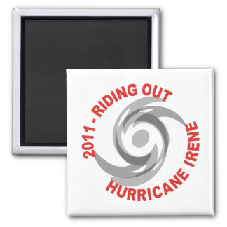 Riding Out Hurricane Irene 2011 Refrigerator Magnets