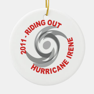 Riding Out Hurricane Irene 2011 Christmas Tree Ornaments