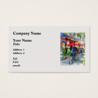 Riding Past the Cafe Business Card
