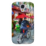 Riding Past the Cafe Galaxy S4 Covers