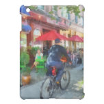 Riding Past the Cafe iPad Mini Cases