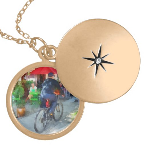 Riding Past the Cafe Pendants