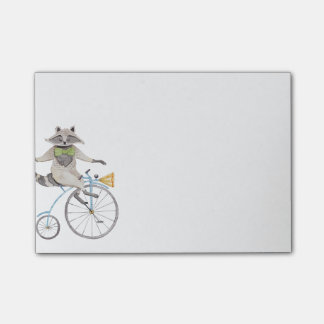 Riding Raccoon Post-it Notes