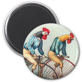 Riding Roosters Magnet