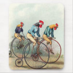 Riding Roosters Mouse Pad