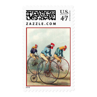 Riding Roosters Postage
