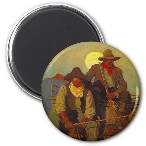 Riding Shotgun Riders Side-seat Western-esque Magnets