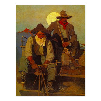 Riding Shotgun Riders Side-seat Western-esque Postcard