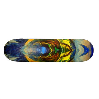 Riding Skateboard Deck