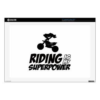 """Riding Superpower Designs 17"""" Laptop Decals"""