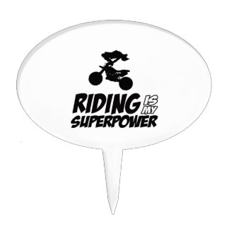 Riding Superpower Designs Cake Topper