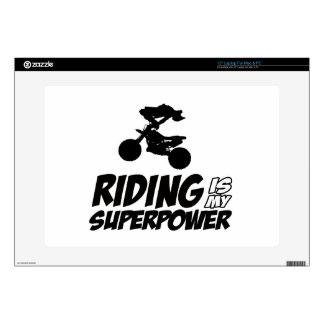 Riding Superpower Designs Decals For Laptops