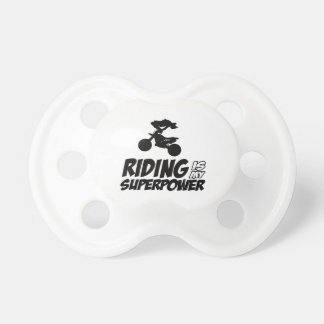 Riding Superpower Designs Pacifier