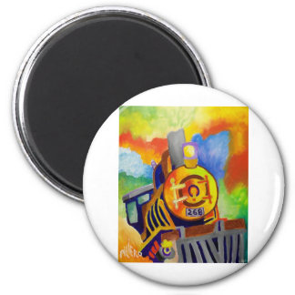 Riding That Train by Piliero 2 Inch Round Magnet