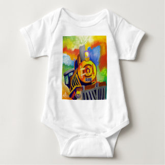 Riding That Train by Piliero Baby Bodysuit